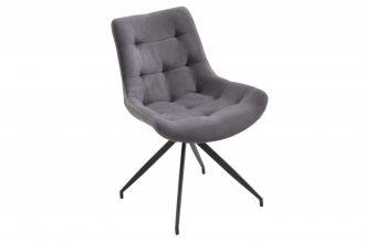 Židlo-křeslo DIVANI LIGHT GREY BLACK RETRO