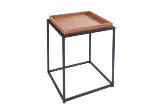 Odkládací stolek s podnosem ELEMENTS 40 CM dubová dýha