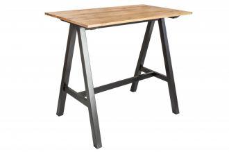 Barový stůl CASTLE 120 CM masiv divoký dub