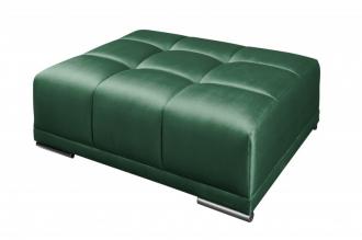 Luxusní taburet ELEGANCIA 110 CM smaragdově zelená samet