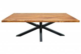 Jídelní stůl GALAXIE 180 CM NATURE masiv sheesham
