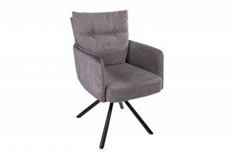 Židlo-křeslo BIG GEORGE šedé otočné