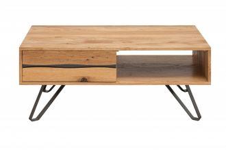 Konferenční stolek LIVING EDGE 110 CM masiv divoký dub
