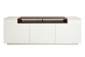 Televizní stolek LOFT 180 CM bílo-ořechový