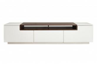 Televizní stolek LOFT II 180 CM bílo-ořechová