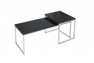 2SET konferenční stolek NEW FUSION BLACK LONG II