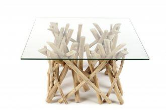 konferenční stolek DRIFTWOOD SQUARE 80-CM naplavené dříví