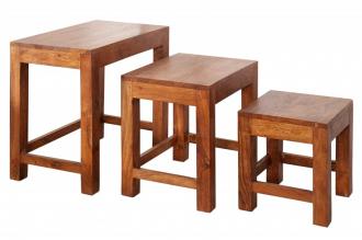 3SET odkládací stolek MONSOON 45-A masiv akácie