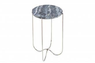 Odkládací stolek NOBLES 35 CM šedý mramor