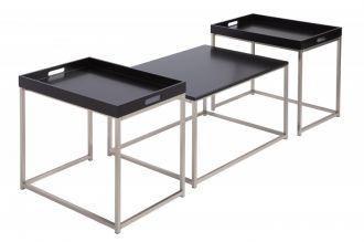 3SET odkládací stolek ELEMENTS černý