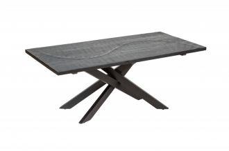Konferenční stolek SCORPION 110 CM černý masiv mango