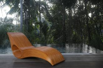 Luxusní zahradní lehátko LADIS BROWN přírodní ratan