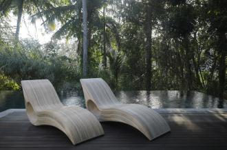 Luxusní zahradní lehátko LADIS NATUR přírodní ratan