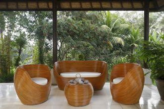 Luxusní zahradní velký SET ORION BROWN přírodní ratan