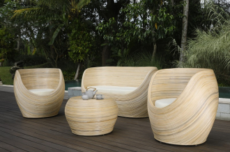 Luxusní zahradní velký SET ORION NATUR přírodní ratan