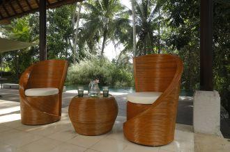 Luxusní  zahradní SET TWIST BROWN přírodní ratan