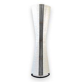 Stojací lampa CAPIZ OVAL 150 CM SILVER