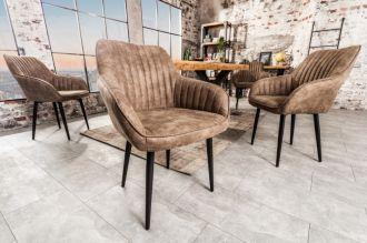 Jídelní židle TURIN VINTAGE TAUPE BROWN