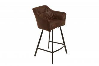 Barová židle LOFT ANTIK BROWN