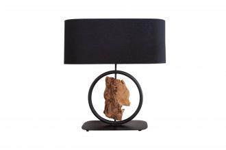Stolní lampa ELEMENTS 58 CM černá masiv akácie
