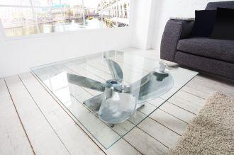 Konferenční stolek OCEAN 85 CM stříbrný