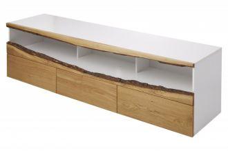 Televizní stolek WILD OAK 180 CM bílá masiv dub