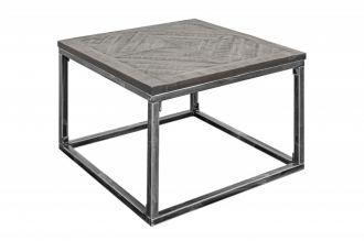 Odkládací stolek INFINITY 60 CM GREY masiv mango