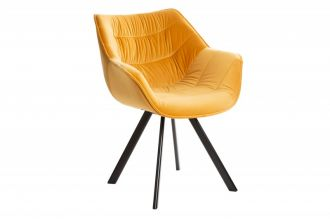 Židlo-křeslo DUTCH COMFORT tmavě žlutá samet