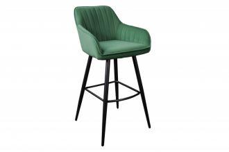 Barová židle TURIN smaragdově zelená samet