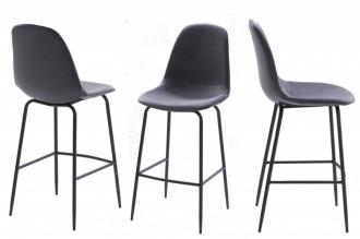 Barová židle SCANDINAVIA stříbrno-šedá samet