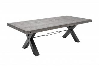 Jídelní stůl THOR GREY 200 CM masiv borovice