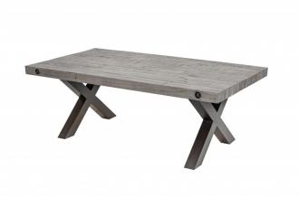 Konferenční stolek THOR GREY 120 CM masiv borovice