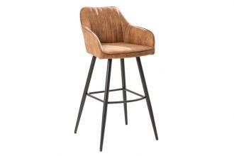 Barová židle TURIN vintage hnědá