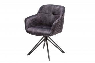 Židlo-křeslo EUPHORIA tmavě šedé otočné