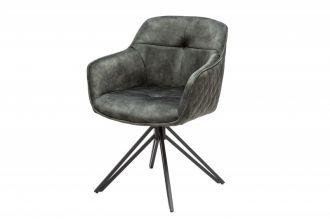 Židlo-křeslo EUPHORIA tmavě zelené otočné