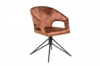 Židle ETERNITY hnědá samet otočná