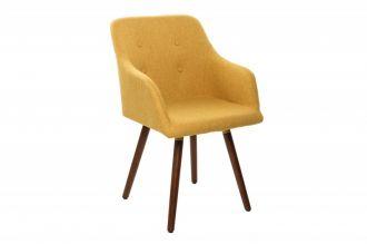 Židle ARMREST tmavě žlutá strukturovaná látka