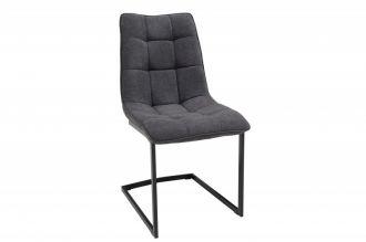 Jídelní židle MIAMI tmavě šedá plochá vazba