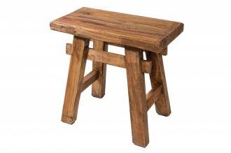 Stolička HEMINGWAY masiv recyklované dřevo