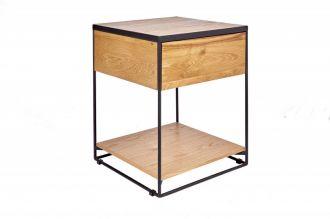 Odkládací stolek SCORPION 40 CM masiv divoký dub