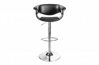 Barová židle MODERN 110 CM černo-stříbrná
