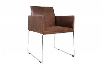 Židle LIVORNO antik hnědá mikrovlákno