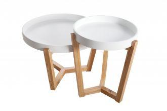 2SET odkládací stolek SCANDINAVIA TABLET bílý