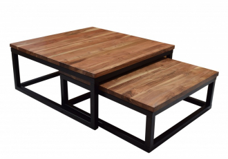 2SET konferenční stolek ELEMENTS 75 CM masiv akácie