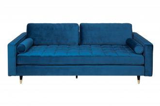 Luxusní pohovka COZY VELVET 225 CM aqua-modrá samet