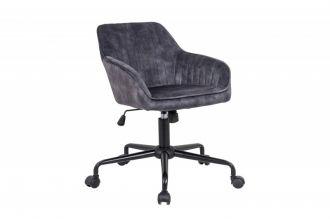 Pracovní židle TURIN tmavě šedá samet