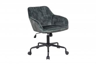 Pracovní židle TURIN zelená samet