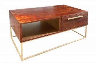 Konferenční stolek STRAIGHT NATUR GOLD 110 CM masiv akácie