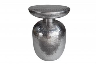 Odkládací stolek ORIENT 36 CM stříbrný
