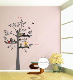 Samolepka na zeď LIVE TREE 90x150 CM s poličkami
